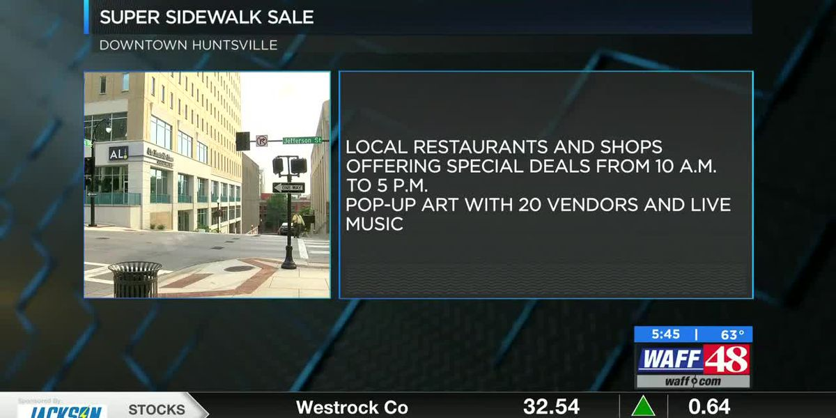 Huntsville businesses step outdoors for sidewalk sale