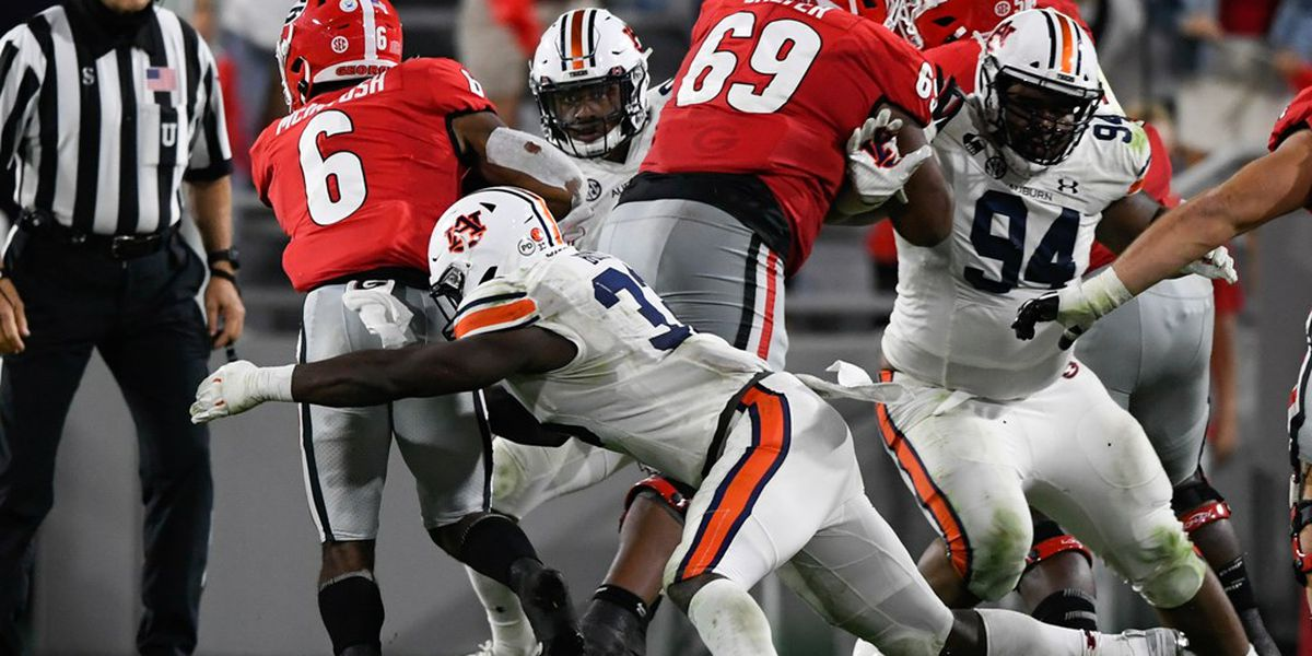 No. 7 Auburn suffers first loss of season against No. 4 Georgia
