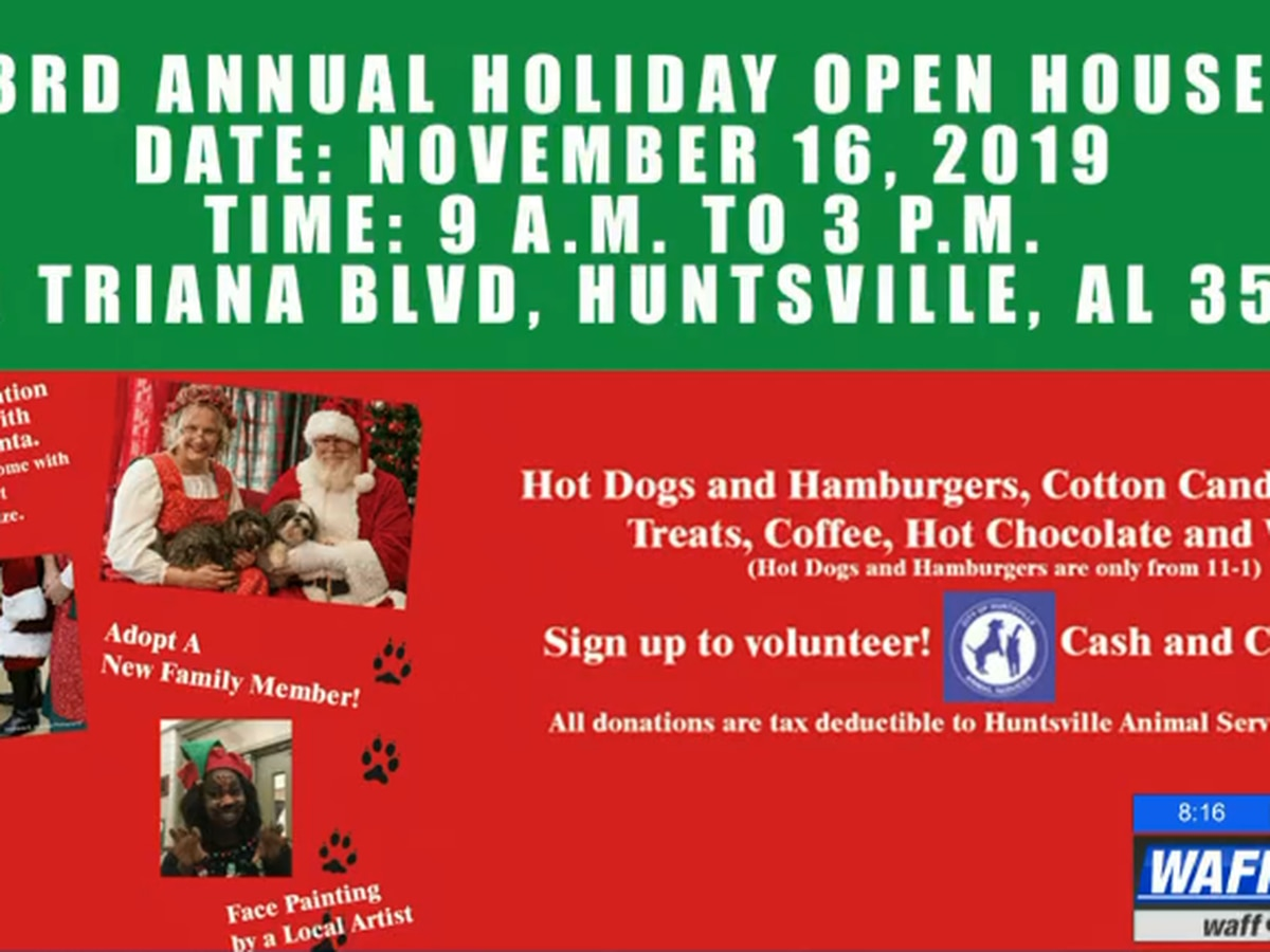 Huntsville Animal Shelter open house has holiday fun and furry friends