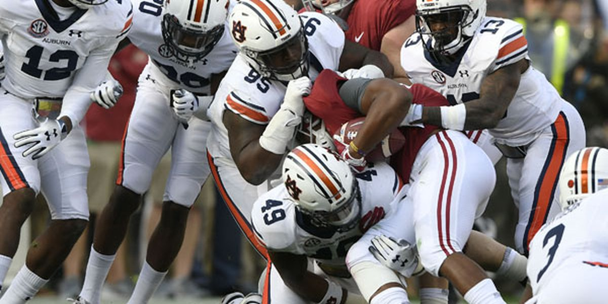 Auburn falls to No. 1 Alabama in Iron Bowl