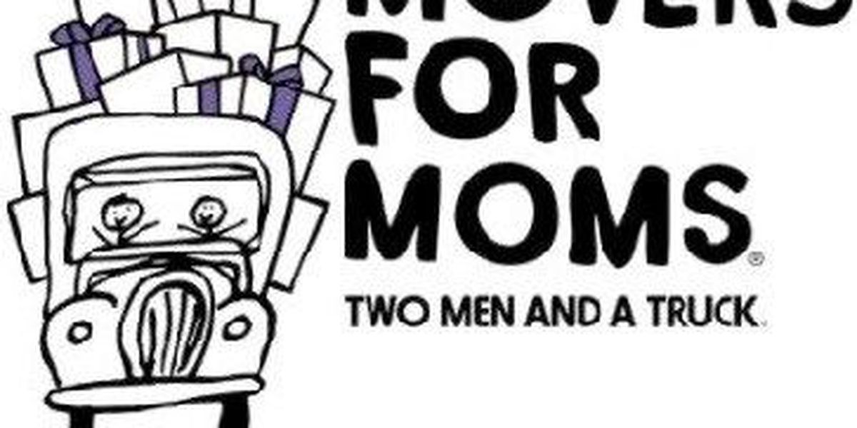Movers for Moms collecting donations for moms in shelters
